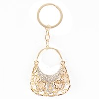 Wholesale Adorable Lady Alphabet D Handbag New Fashion Creative Crystal Pendant Lovely Key Chain Send Friend Creative Gift