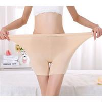 LG009 cómoda más tamaño de las señoras de bambú boxeador pantalones cortos de verano ligero pantalones vaqueros Boyshort ropa interior para las mujeres 24-40 pulgadas