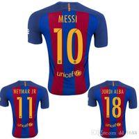 Wholesale Top shirts t shirts futbol shirts BARCELONAES sizers BARCELONAIZERS maillot de foot ba sa nan Messi Jersey shirt