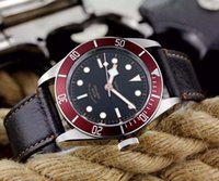 analog drivers - Frank Watch Factory Top Quailty super luminous Edition on Bracelet black dial driver watch leather Watch SS Watches Herie Black Bay