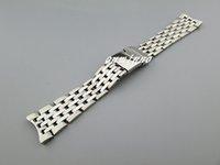 al por mayor 22mm banda de reloj extremo curvo-Nueva alta calidad de 22 mm SS Pulido + curvada cepillado Fin de relojes de pulsera pulseras para reloj Breitling