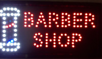 Wholesale 2016 hot sale customized led neon sign x19 Inch Semi outdoor flashing barber shop open signage