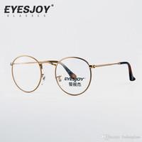 Wholesale RB Retro Optical glasses Original Box Full Rim Metal Frame Aviator Glasses Men Women Myopia Eyewear EJ6242