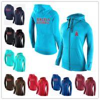 angels baseball jacket - New Women s Hoodies Anaheim Angels Baseball Jackets Sportswear Jogging Fleece sweatshirt Mixed order