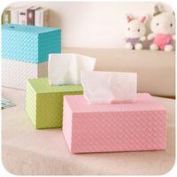 Wholesale Rattan home pumping tray shape creative home tissue box napkin plastic storage box