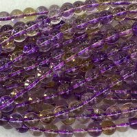 ametrine heart - Natural Genuine AAA High Quality Clear Purple Yellow Ametrine Round Loose Beads mm DIY Jewelry Necklaces or Bracelets quot