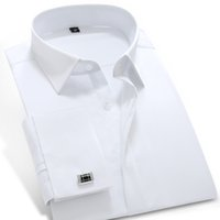 Wholesale Please Check Size Carefullly French Style Cotton New for Summer Mens Brand Dress Shirt Slim Fit Fashion Shirt