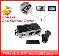 advance trucks - Dual USB Dual Cigarette Lighter ports advanced Extension Socket Splitter used in car truck SUPER power V V W ATP005