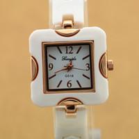 belt buckles shipping - copy ceramic belt square alloy ceramic case simple dial quartz movement gerryda fashion woman lady ceramic quartz watch