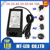 Wholesale Switching Power Adapter 12v 3a - new Christmas switching power supply 110-240V AC DC 12V 2A 3A 4A 5A 6A 8A 10A 12.5A Led Strip light 5050 3528 transformer adapter lighting