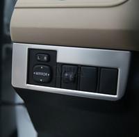 ajuste de acero inoxidable espejo de coche Ajuste de la cubierta marco decorativo para Toyota RAV4 2013 2014