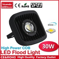 Wholesale Glass Lens bridgelux LED High power COB Flood Light W water proof spot lamp AC85 V high PF Landscape lighting project lamp
