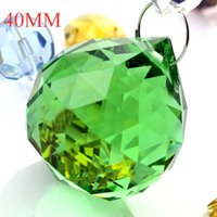 Wholesale mm Chandelier ball Rings Green color crystal Glass ball Crystal Chandelier parts