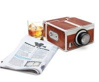 Wholesale 2016 New arrival Smartphone Projector DIY Cardboard Portable Cinema Mobilephone Projector for Android IOS Cell Phone Projector
