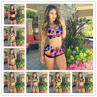 bathing suit designers - Fashion Designer Bikini Swimwear For Women Colors Leopard Printing Hawaii Style Push Up Padded Swimsuit Brazilian Bikinis Bathing Suits