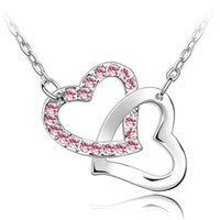 Pendant Necklaces accessories singapore - Bridal Necklace With Rhinestone Fashion Accessories For Women Crystal Necklace Pendant Charm Jewelry colors