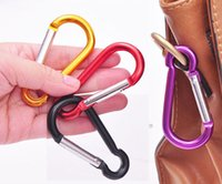 aluminium sports - Hot Sale DSK Outdoor Sports Multi Colors Aluminium Alloy Safety Buckle Keychain Climbing Button Carabiner Camping Hiking Hook