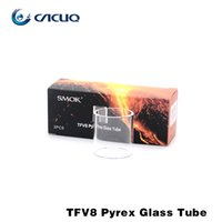Wholesale Original Smok TFV8 Pyrex Glass Tube Clear Atomizer Tank For Smoktech TFV8 Atomizer For E Cigarette Vaporizer Replacement