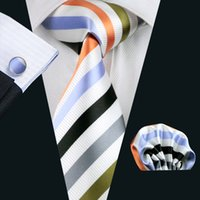 Neck Tie Set Classic Fashion New Fashion Accessories Necktie High Quality Men's Ties For Suit Business Wedding Casual Multi Stripes Men Tie N-1090