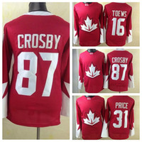team canada jerseys - Team Canada Sidney Crosby Olympic Hockey Jersey New Style Carey Price Jonathan Toews Ice Hockey Jerseys High Quality Hockey Wear