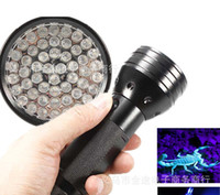 Wholesale Portable LED UV LED Purple Light Black Flashlight Aluminum Shell nm Counterfeit Detected Torch Lighting Lamp for xAAA Free DHL