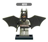 batman wings - XH Building Blocks Super Heroes Avengers Ultron Minifigures Batman With WING Bruce Wayne Single Model Bricks Mini Figures Children Toys