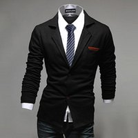 Wholesale 2016 New Arrival Men Blazer two Button Suit Men s Casual Blazers Solid Slim Job Overcoat spring and Autumn Outerwear PX66