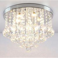 al por mayor cristales de variedades-Lámpara de techo de cristal de la luz de techo K9 de la luz de techo de la lámpara ligera pendiente del cromo de la luz de techo de la lámpara # 13