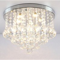 bedroom ceiling lighting - Round K9 Crystal Ceiling Light Droplights Silver Chrome Ceiling Pendant Light Chandelier Fitting Lamp crystal light variety