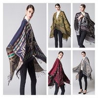 Wholesale Fashion Autumn and winter scarves National style scarves Ladies Travel Shawls wool thicken the cloak women shawls A0348