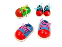 Wholesale 2016 New Wooden Lacing Shoe Learn To Lace Tie Your Shoe NEW Kids training toy gift