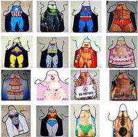 Wholesale LJJD3301 styles superman batman Apron creative whimsy novelty couples party gifts Creative Cartoon pinafore New Apron cm