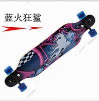 Wholesale 41inch Maple Longboard Skateboard cm Men Speed professional skateboard Double Rocker For Outdoor Sport on