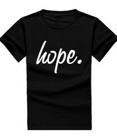 Wholesale Fashion Hope Man T Shirt Cotton O Neck T Shirt Mens Short Sleeve Mens tshirt Male Tops Tees