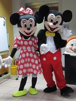 Compra Mickey mouse mascot costume-Fábrica de la venta directa de alta calidad de la mascota de Mickey Mouse Mickey Mouse traje de la mascota envío gratuito