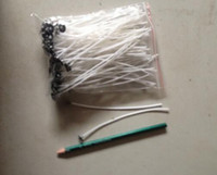 Wholesale 100 pack mm Candle Wicks Pre Waxed PreTabbed With Sustainers Cotton Coreless Candles Wick Home Decor House Tool Tools DIY Gift