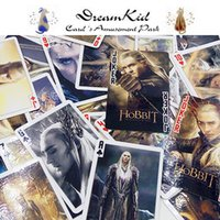 Wholesale 54pcs The Hobbit poker Thranduil Lee Pace Greenleaf Legolas playing cards Lord of the Rings poker set