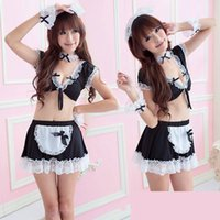 Wholesale Plus women sexy late nite french maid costume Servant cosplay sexy women dress exotic apparel maid S XL XL XL XL