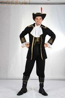 adult men pirate costume - Halloween Cool Adult Men Palace Full Dress Pirate Cosplay Costume for Stage Performance or Masquerade Party