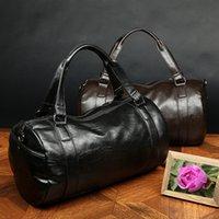Wholesale Popular Men Travel Bags Business Handbag Faux Leather Vintage Duffle Bags Male Outdoor Shoulder Large Capacity Messenger Bags ZA0231