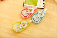Wholesale 24pcs Cartoon animals correction tape m creative student school supplies color correction tape