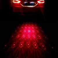 acura warning lights - 4 Patterns in Car styling Brake Light For Peugeot Led Warning Light v Laser Fog Light Cool Auto Tail Parking Light