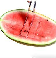 Wholesale S L Stainless Steel Watermelon Melon Slicer Corer Fruit Cutters Knife Fruit Slicer Cutter Kitchen Tools