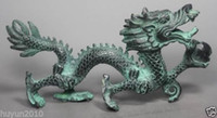 Wholesale to world Lucky Chinese Fengshui Collection Chinese Folk Old Bronze Handwork Dragon Statue statue gift amulet