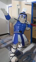 Wholesale OISK Custom Blue Titan Spartan Trojan knight Mascot Costume Animal Suit Halloween Christmas Birthday Full Body Props Costumes Outfit