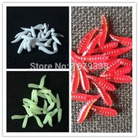 big red worms - Big Sale mm Soft Silicone Noctilucent Glow Fishing Tackle Worms Grub With Taste Red Fluorescent Green White order lt no track