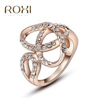 austria professional - ROXI foreign trade professional jewelry jewelry Han Feng Austria crystal rose gold diamond ring scarf