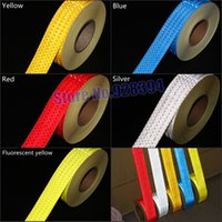 Wholesale mmx50M quot x164ft Safety Reflective Adhesive Tape Reflective Tape Sticker For Truck Car Motorcycle Warning Tape Choose