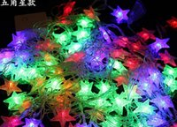 bell string lights - 450cm Holiday Led lighting waterproof colorful lighting strings bells Snowflake star lights party festive Christmas event Decorative Lights