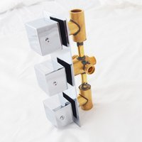 Wholesale Hot And Cold Control Shower Valve Brass Chrome Shower Mixers Lever Shower Faucets Square Shape Knob